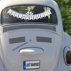 Autoaufkleber Just Married