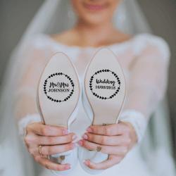 Schuh Aufkleber Hochzeit
