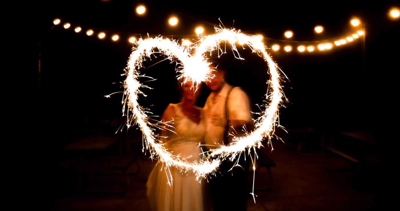 Wunderkerzen Hochzeit Momente