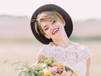 Gerade Zähne zur Hochzeit