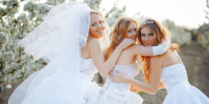 Braut Bräute Brautkleid Weltrekord