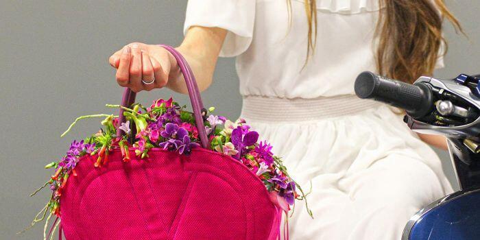 Brauttasche Blumenschmuck von Marcel Schulz