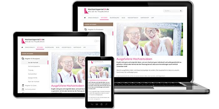 Hochzeitsportal24 responsive Design