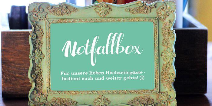 Notfallbox Schild