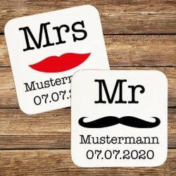 personalisierte Untersetzer Mr Mrs