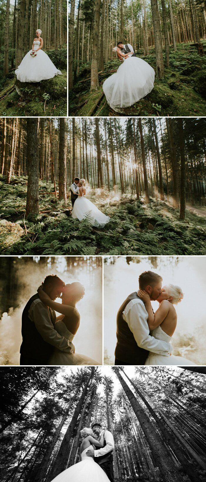 After Wedding Shooting im Wald