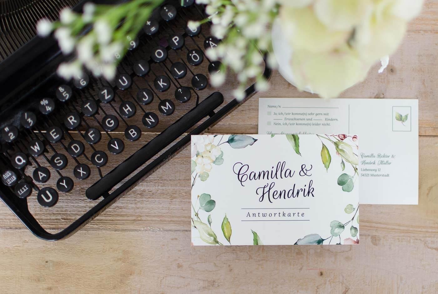 Hochzeitseinladung Antwortkarte