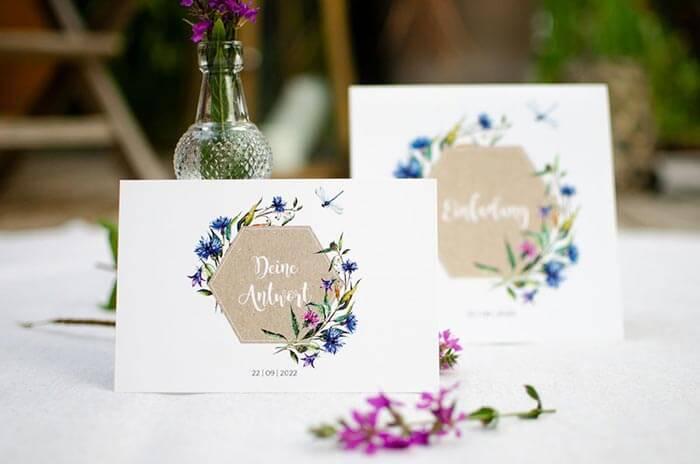 Antwortkarte Hochzeit Text