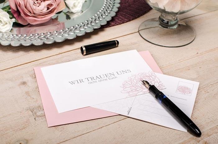 Antwortkarte Hochzeit lustig