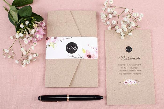 Hochzeit Antwortkarte