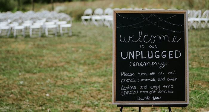 Hochzeit Handyverbot