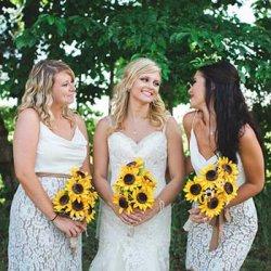 Brautjungfernkleider Weiß