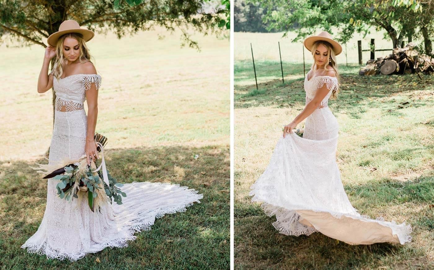 Brautkleider-Stil Boho