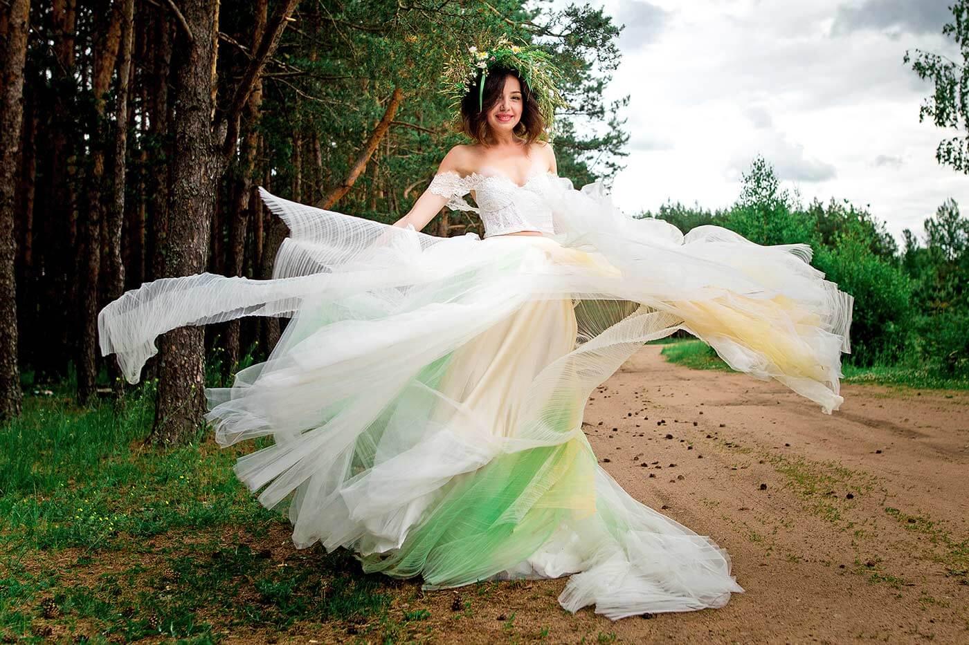 Ombre Brautkleid