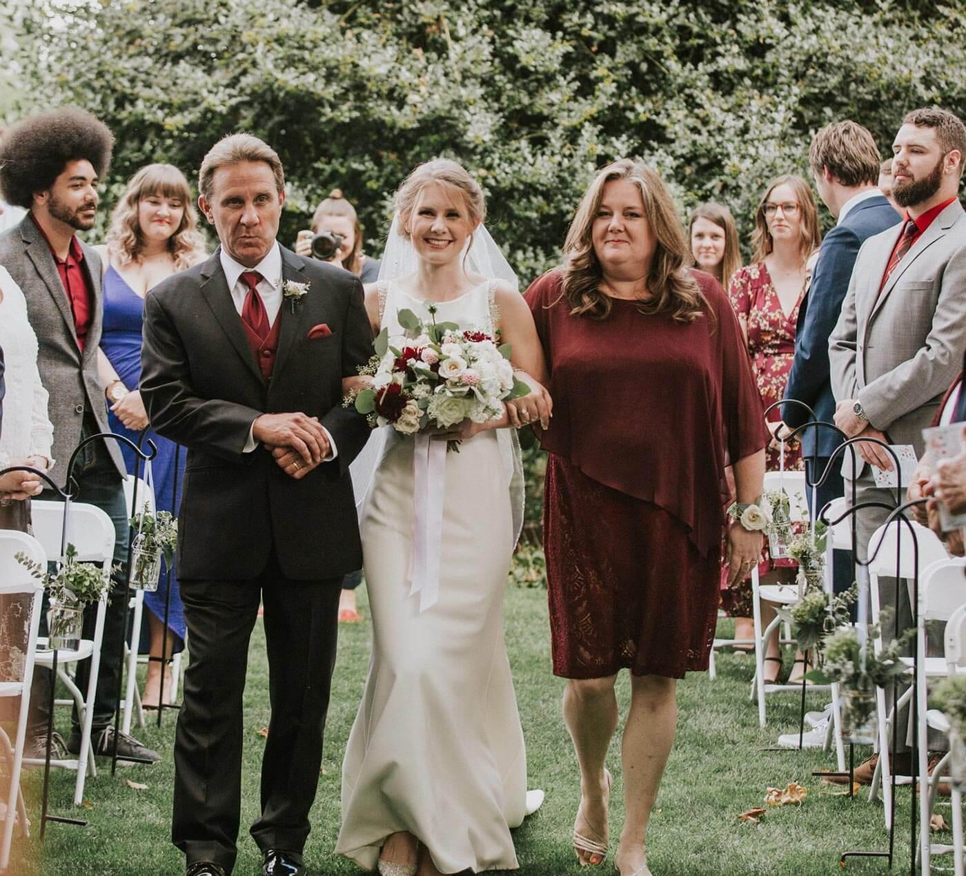 Braut Einzug Eltern