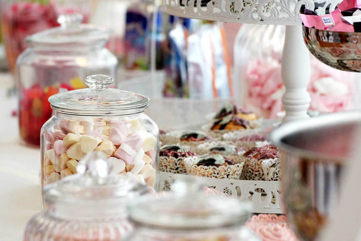 Candy Bar Gefäße