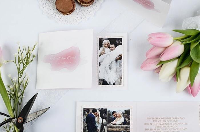 Hochzeit Dankeskarten Text