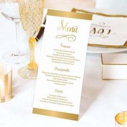 Menükarten Goldene Hochzeit