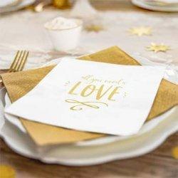 Servietten Goldene Hochzeit