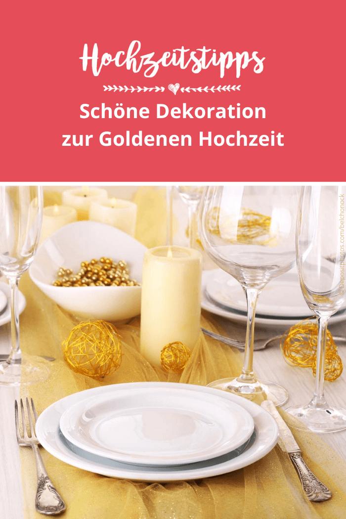 Tischdeko für Goldene Hochzeit