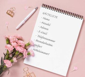 Hochzeit Gästeliste