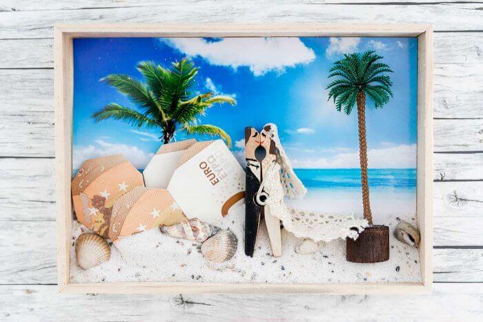 Geldgeschenk Bilderrahmen Hochzeit