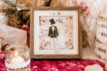 Geldgeschenke im Bilderrahmen verpacken, Hochzeit