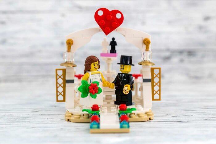 Lego Hochzeit mit Brautpaar