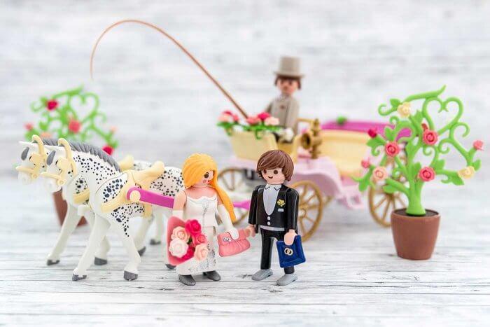 Playmobil Hochzeitspaar mit Pferdekutsche