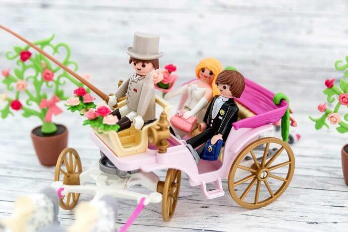 Playmobil Kutsche mit Brautpaar