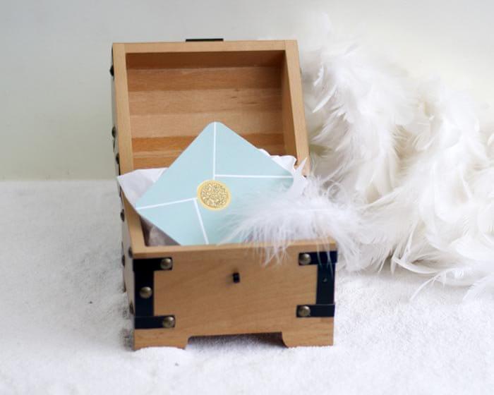 Schatztruhe Hochzeitsgeschenk