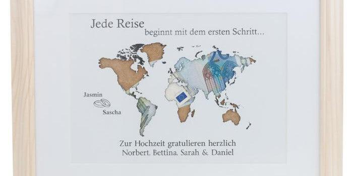 Geldgeschenk Weltkarte Tolle Idee Für Reisefans Zur Hochzeit