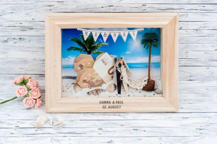 Geldgeschenk Hochzeit Bilderrahmen
