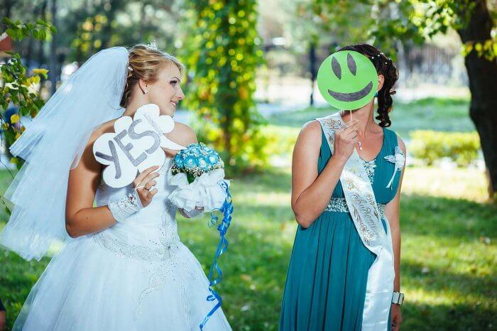 Fotobooth zur grünen Hochzeit