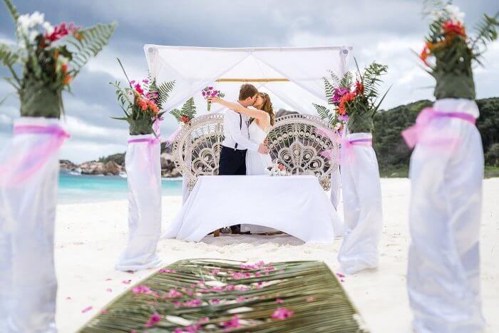 Heiraten Strand Seychellen