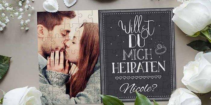Heiratsantrag Puzzle