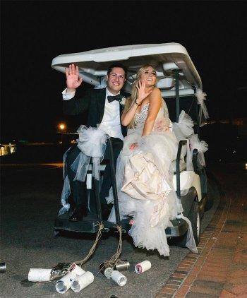 Hochzeit Golfcart