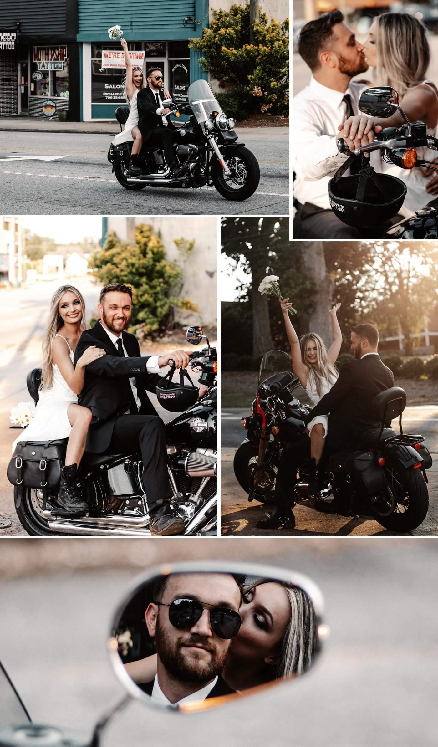 Hochzeit Motorrad