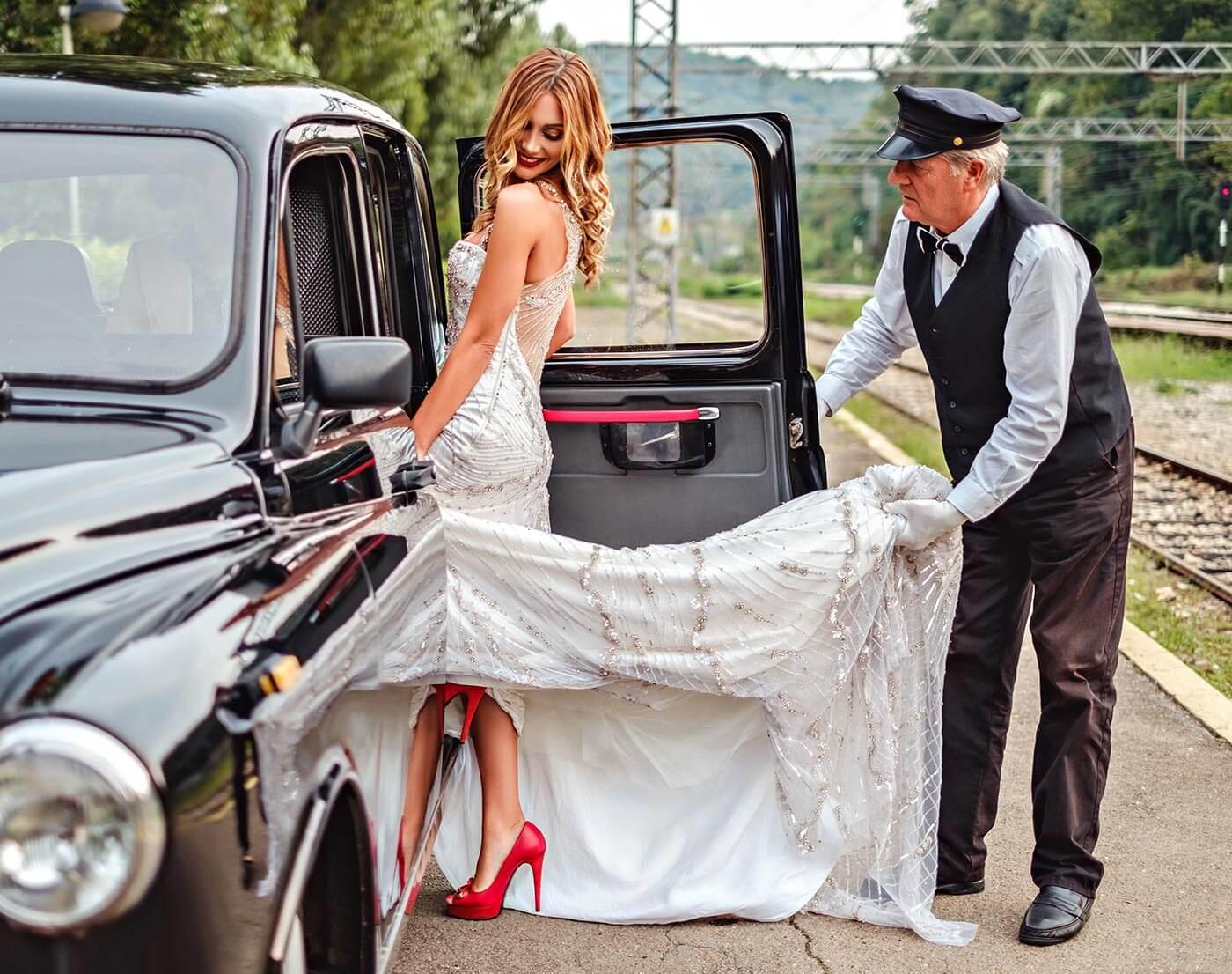 Hochzeitsauto mit Chauffeur mieten