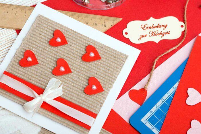 Einladungskarten Hochzeit basteln
