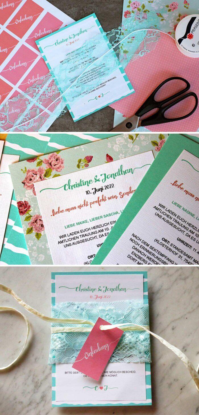 Einladung Hochzeit Basteln