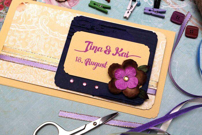 Einladungskarten basteln Hochzeit