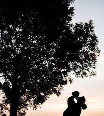 Schattenbild Hochzeit