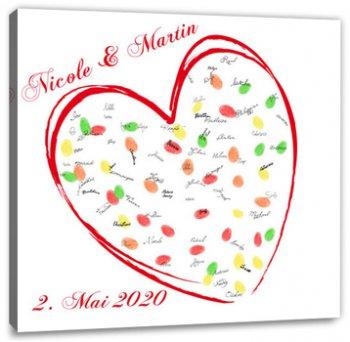Hochzeitsspiel Fingerabdruck Leinwand Tolle Motive Der Leinwand