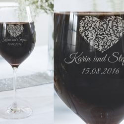 Weinglas Herz