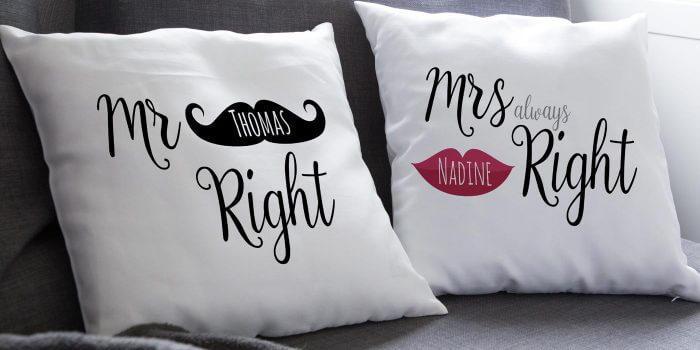 hochzeitskissen als personalisiertes hochzeitsgeschenk tolle exemplare. Black Bedroom Furniture Sets. Home Design Ideas