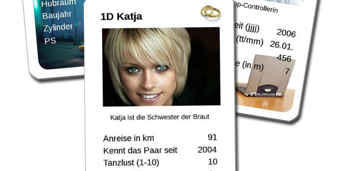 Hochzeitsgeschenk: Hochzeitsquartett - Hochzeitsportal24