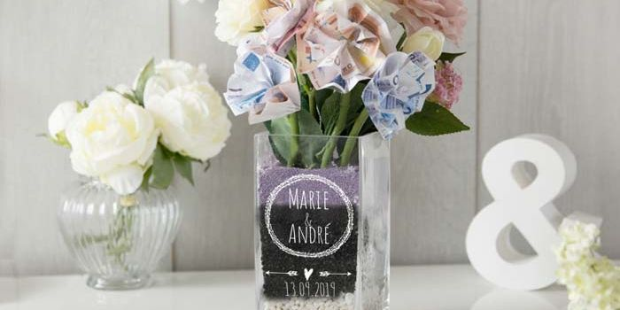 Geldgeschenk Vase
