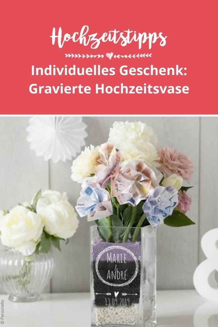 Vase mit Gravur