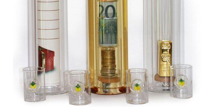 Geldgeschenk Hohlraumflasche